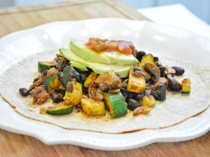 Mushroom and Black Bean Wraps