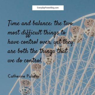 time and balance