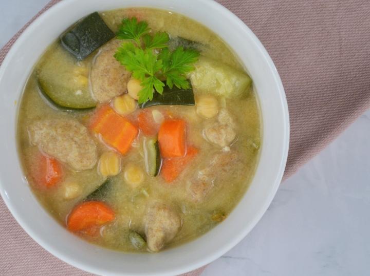 Chickpea Gnocchi Soup