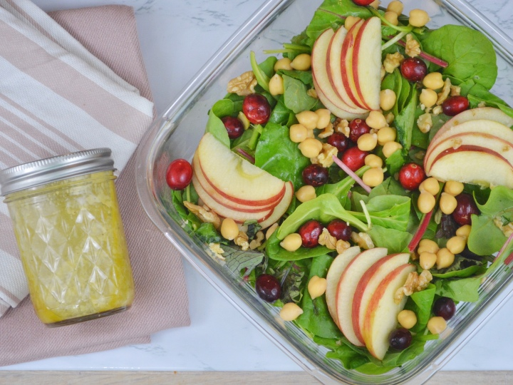 Apple Cranberry Salad with GingerDressing