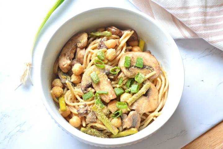 Balsamic Mushroom & AsparagusSpaghetti