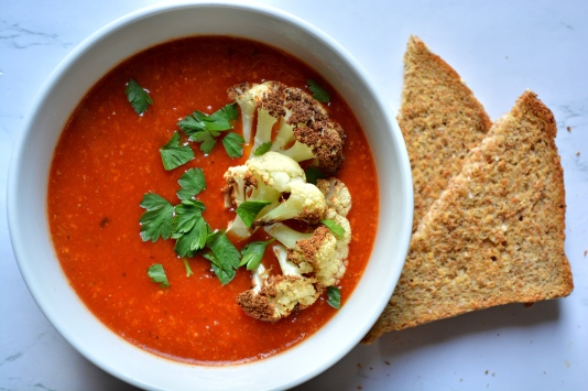 roasted red pepper soup]