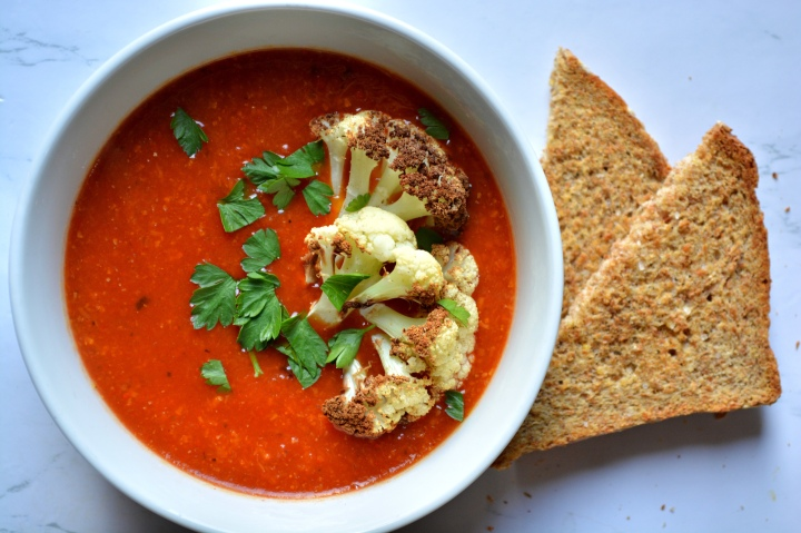 Roasted Red Pepper & CauliflowerSoup