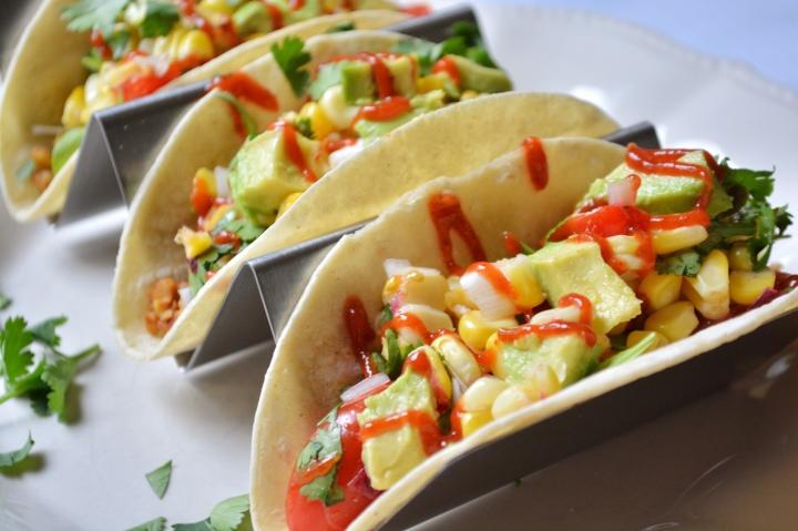 Tempeh Tacos with CornSalsa