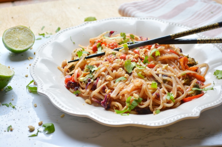 Spicy Veggie Pad Thai